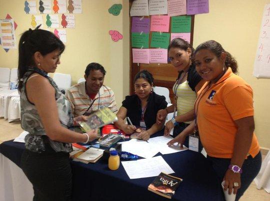 Team Member Dasil Mejia works on group project