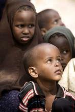Children in the village of Garufa in north-eastern