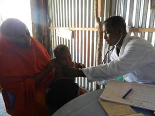 The doctor examining Ikhlaas