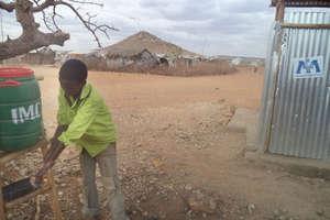 Handwashing station at Ethiopian refugee camp