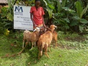 Bekelech with some of her new livestock