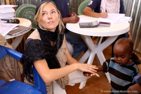 Sienna Miller Visits the Dolo Ado Camps