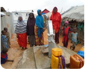 Rehabilitated well in Haji Pollo IDP camp