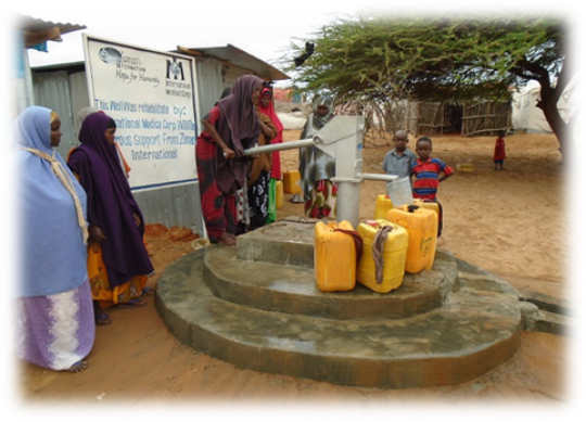 Rehabilitated well in Nageye IDP camp