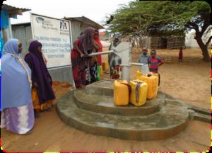 Rehabilitated well in Nageye IDP camp