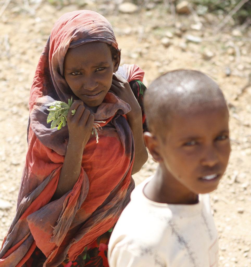 A young girl at the Dolo refugee camps in Ethiopia.  Right now, a severe drought in East Africa has inflicted wide scale crop failures, food insecurity, and famine, with millions of men, women, and children fleeing Somalia to refugee camps in Ethiopia and Kenya.