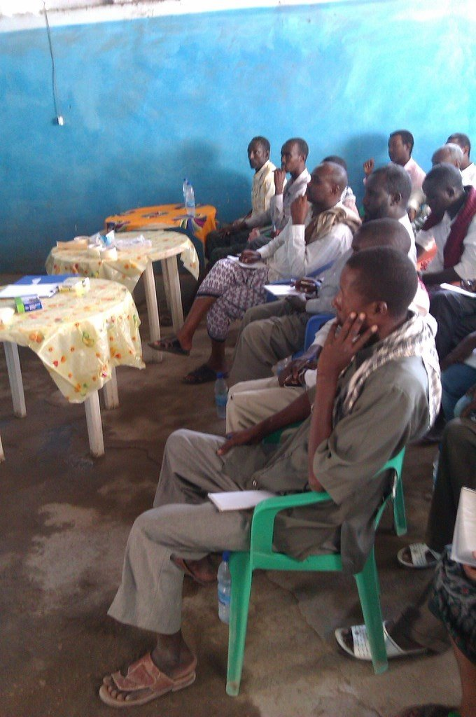 Group water management training session