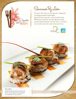 Mitre Lionfish dish