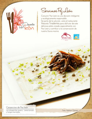 vesuvio tiradentes lionfish dish