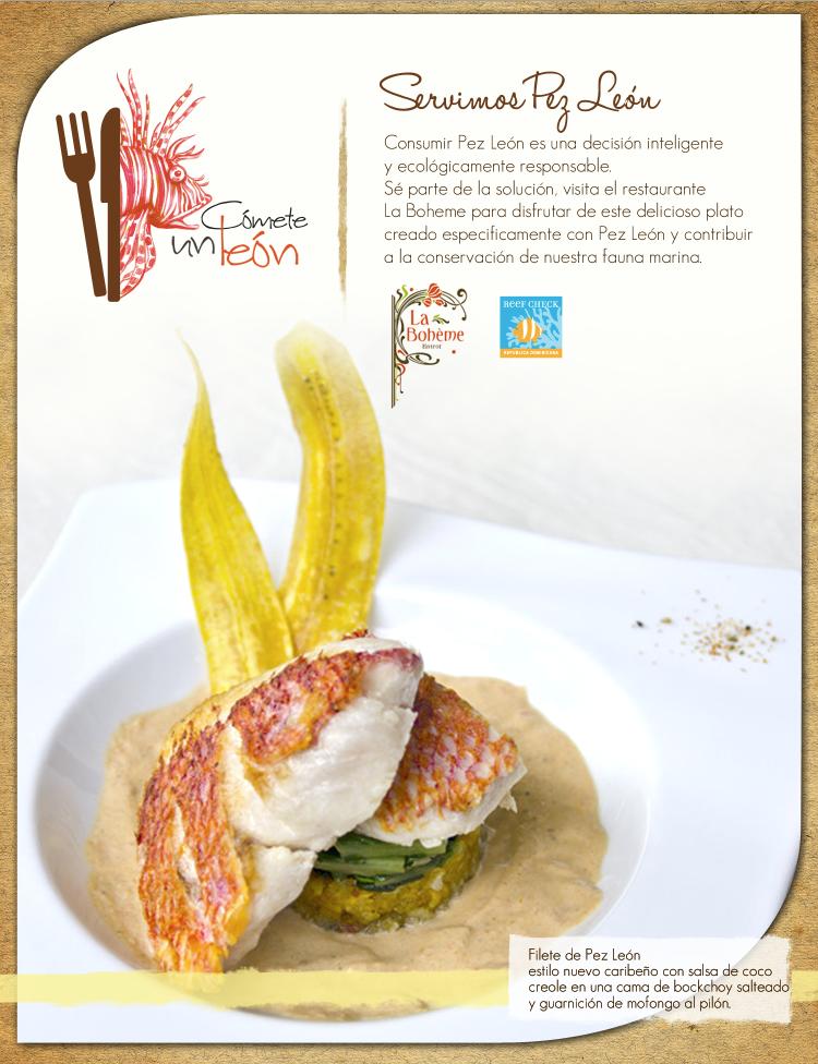 La Boheme lionfish dish