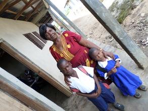 Children with Head Teacher