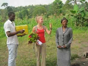 Clovis, Carrie and GBPS head teacher
