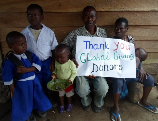 Family Thanking Global Giving Donors