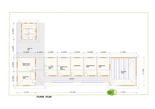Floor Plan of Clinic