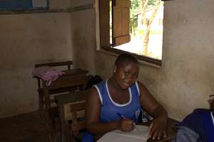Jenny hard at work in the classroom