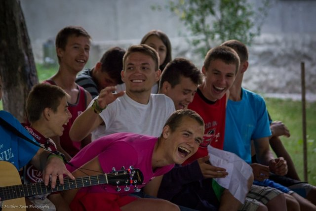A guest speaker gets on level with Moldovan youth