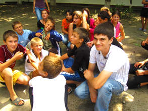 One of our TC youth with the children