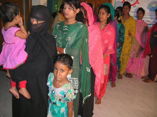Patients & Mothers waiting for Checkups