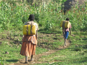 Women are responsible for fetching water