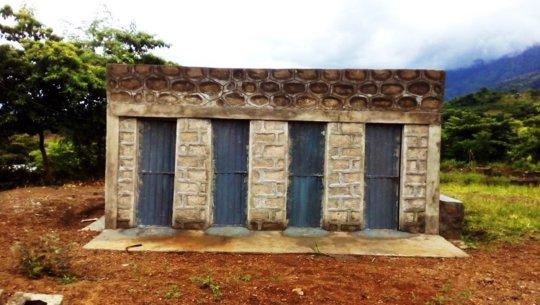 The new toilets - thanks to Orbis