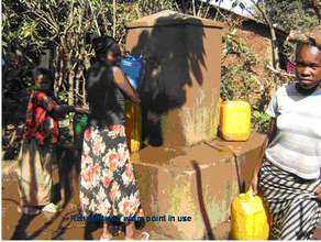 Collecting water from rehabilitated water supply