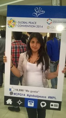 Astrid at the 2014 Global Peace Convention