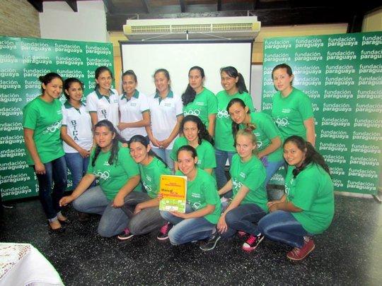 Students from Mbaracayu at the Fundacion Paraguaya