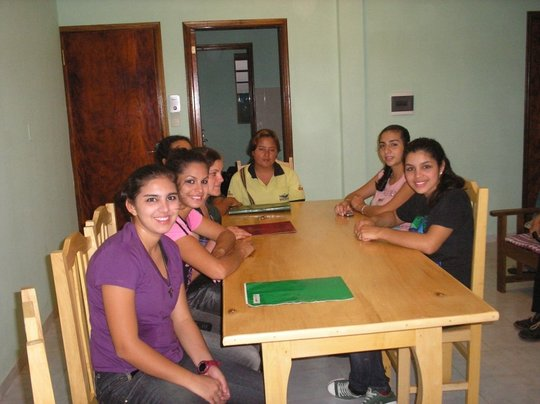 The girls at their home in Villarrica
