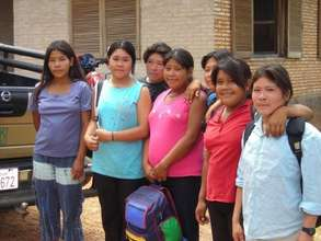 Eulalia and other students from the Ache community