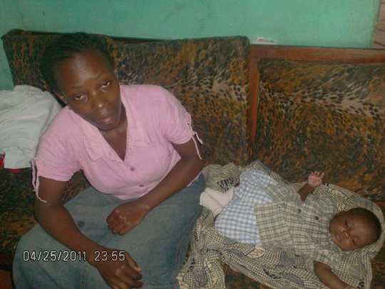 Koti and her 1st child after being defiled