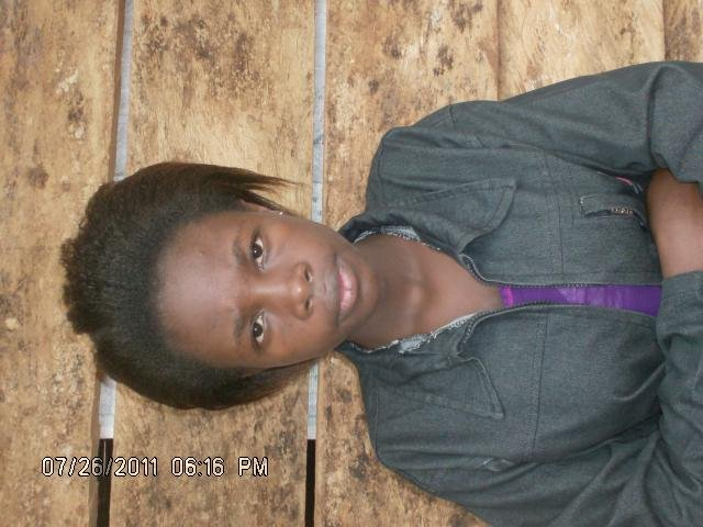 Mwamini is 15 this is her 1st time at school