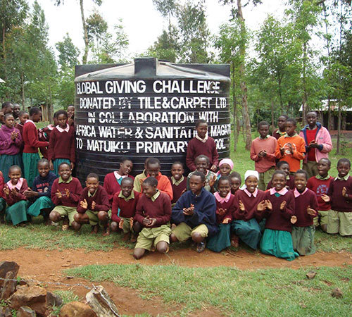 Children and their new tank, Matuiku School