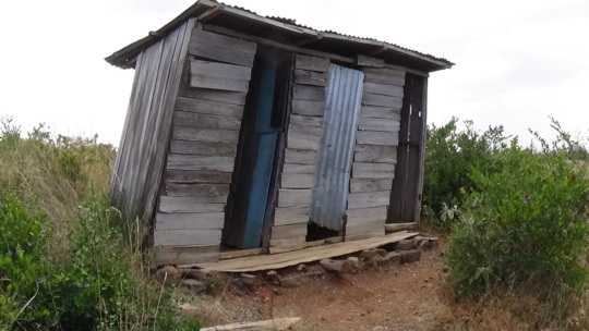 Latrine condition in Murichu Primary School