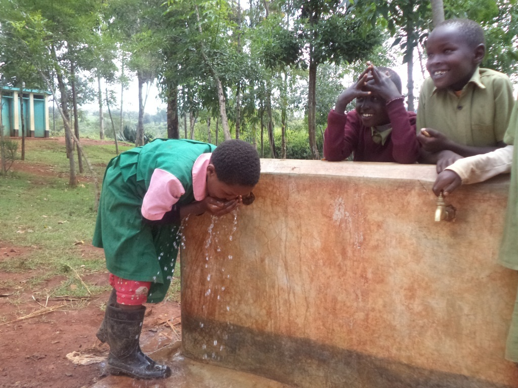 We are enjoying clean and safe drinking water!