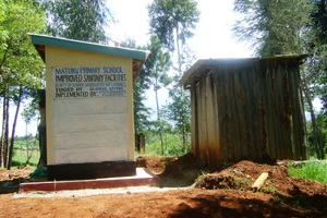 Difference between old & new latrines. GHARP/KRA
