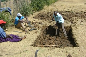Excavation of latrines at Matuiku. GHARP/KRA