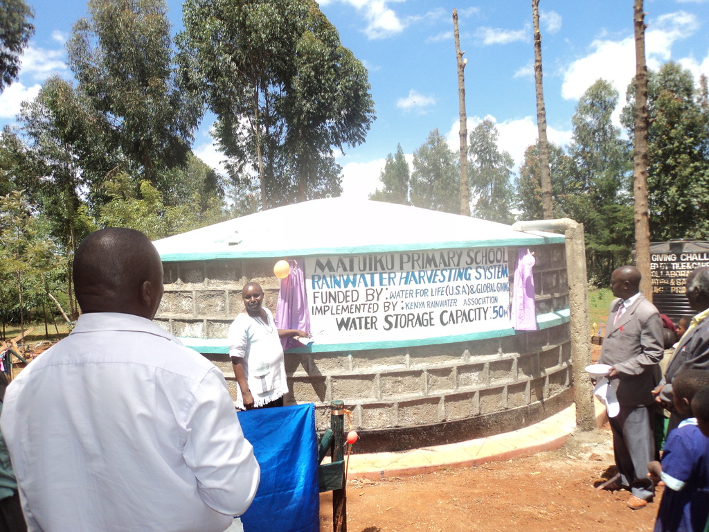 The new 50,000-litre cement water tank. GHARP/KRA