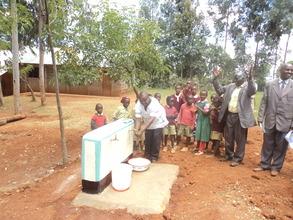 Water flows from the taps at Matuiku. GHARP/KRA