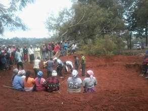 Community contribution-Excavating a school tank