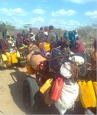 Somali refugees walked 21 days to Kenya border