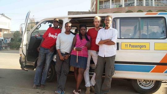 Team in Dadaab: Ahmed, Deeq, Claudette, Matt