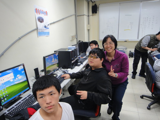 computer class for v.i. children