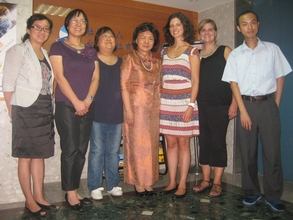 Sandra and I with the friendly and dedicated staff