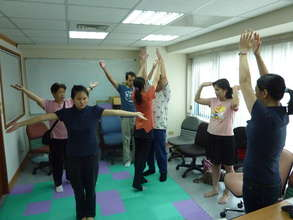 yoga class for the visually impaired