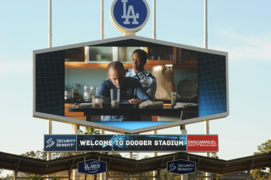 Barbara introduced GAH spot at the LA Dodgers Game