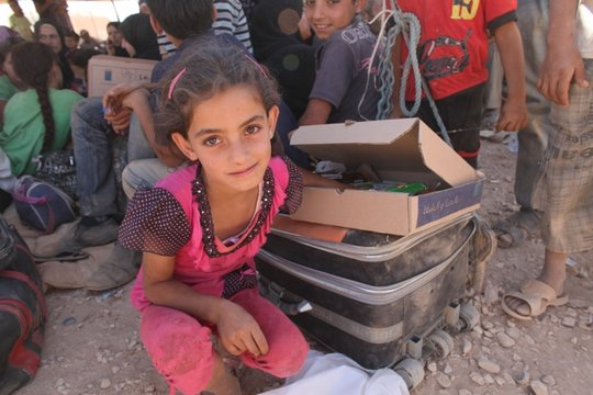Syrian refugee 7 year old Wiam in Jordan