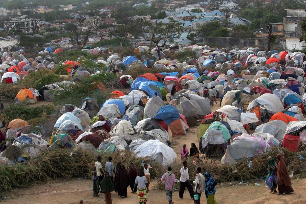 Mogadishu tent camps. C. Nelson.