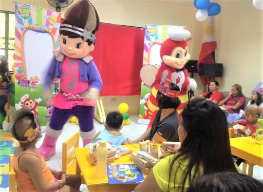 Characters are on hand to entertain the children