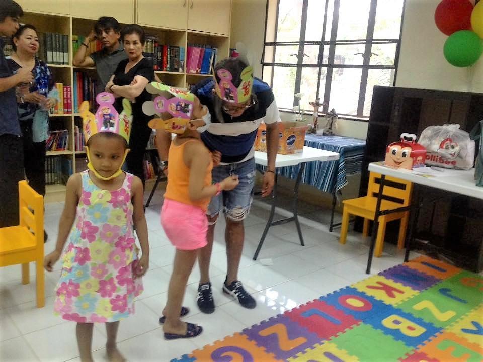 Children enjoying toy party