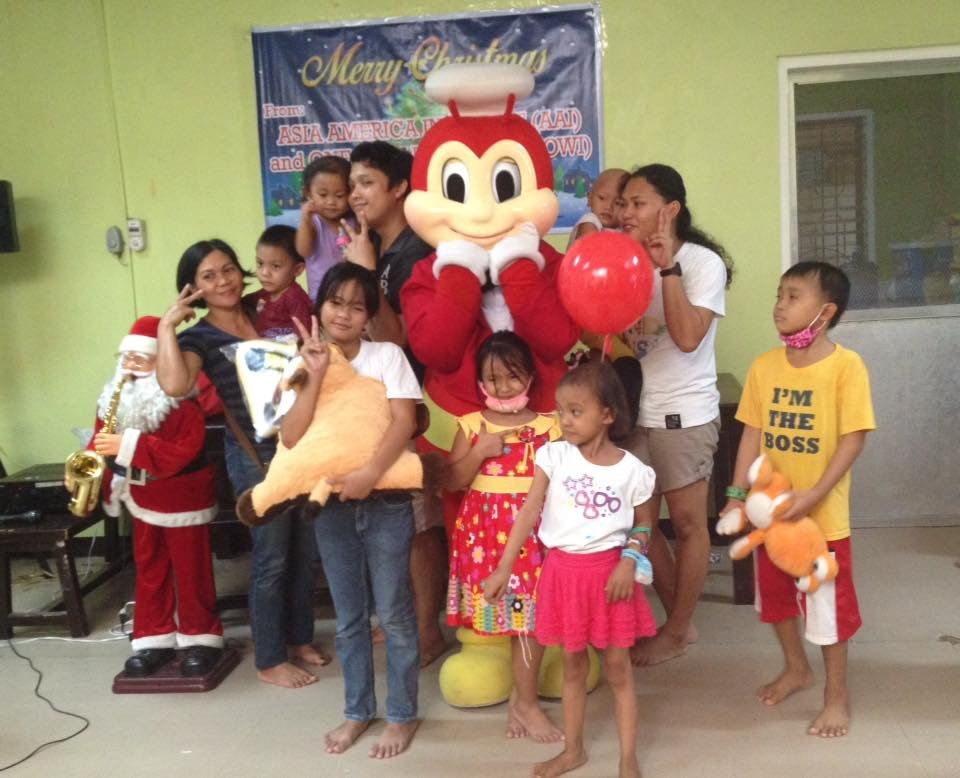 Christmas Eve party at House of Hope